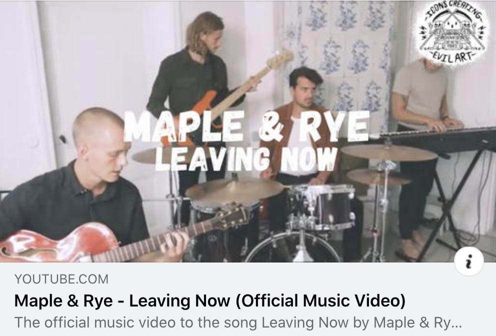 Maple & Rye uppmärksammar oss i samband med sin senaste musikvideo!